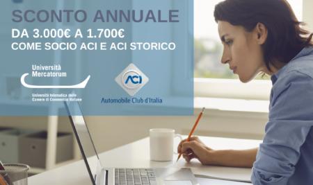 Nuova convenzione tra UniMercatorum e ACI Automobile Club d'Italia