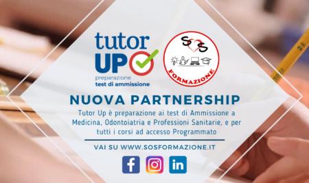 Nuova partnership con Tutor Up – Preparazione ai test di Ammissione